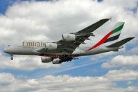 A6-EDF @ EGLL - Emirates 2006 Airbus A380-861, c/n: 007 at Heathrow