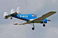 G-AKVZ @ EGSX - 1945 Miles M38 Messenger 4B, c/n: 6352 at North Weald