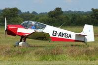 G-AYGA @ EGCB - 1956 Societe Aeronautique Normande JODEL D117, c/n: 436 on 2011 Family Fun Day