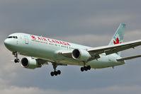 C-FTCA @ EGLL - Air Canada 1989 Boeing 767-375ER, c/n: 24307 on short Finals to Heathrow