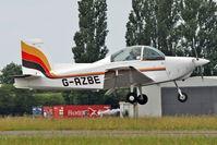 G-AZBE @ EGSX - 1971 Glos Air Airtourer Super 150, c/n: A535 arriving at North Weald