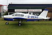 G-BEAC @ EGNJ - parked in front of Frank Morgan Flight School.