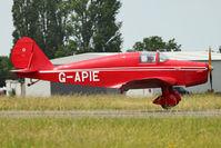 G-APIE @ EGSX - 1958 Tipsy Belfair, c/n: 535 at North Weald