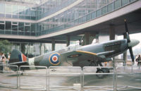 LA226 - Spitfire F.21 with RAF Maintenance serial 7119M on display in London in the Summer of 1976. - by Peter Nicholson