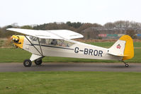 G-BROR @ EGBR - Piper J-3C-65 at Breighton Airfield in March 2011. - by Malcolm Clarke