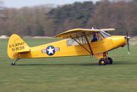 G-FUZZ @ EGBR - Piper L-18C Super Cub at Breighton Airfield in March 2011. - by Malcolm Clarke