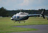 G-LBDC @ EGTB - Bell 206B Jet Ranger III at Wycombe Air Park. Ex N206GF - by moxy