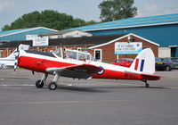 G-HAPY @ EGTB - Chipmunk T.10 in RAF colour scheme and displaying former RAF serial WP803, at Wycombe Air Park. - by moxy