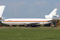 5X-JOE @ EGMH - McDonnell Douglas DC-10-30F, c/n: 47906 WFU at Kent International - by Terry Fletcher