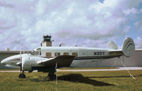 N30Y @ TMB - Beech E18S seen at New Tamiami in Noember 1979. - by Peter Nicholson