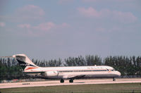 N1268L @ MIA - DC-9-32 of Delta Air Lines preparing for take-off at Miami International in November 1979. - by Peter Nicholson