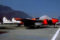 J-1080 @ LSMS - after the Vampire fleet was wfu many airframes were stored at Sion AB. - by Joop de Groot
