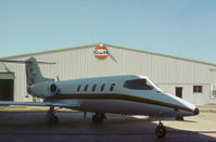 N77PK @ HOU - Learjet 25B as seen at Houston Hobby Airport in October 1979. - by Peter Nicholson