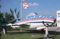 52-7261 - RF-84K Thunderflash on display at the George T. Baker Aviation School in Miami in November 1979. - by Peter Nicholson