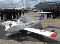 F-WZTU @ LFPB - Colomban MC-15E CriCri powered by two electric motors at the Aerosalon Paris/Le-Bourget 2011