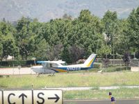 N152BS @ POC - Rolling out after landing on runway 26R - by Helicopterfriend