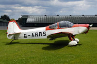 G-ARRS - parked on the grass strip behind the East Kirkby museum