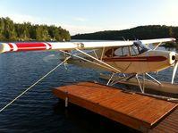 C-GPUG - pa-12 150 hp on floats - by Francois Belanger