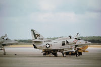 150132 @ PAM - A-4E Skyhawk of Marine Attack Squadron VMA-322 at Tyndall AFB in November 1979. - by Peter Nicholson