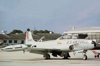 58-0585 @ PAM - T-33A Shooting Star of the 95th Fighter Interceptor Training Squadron at Tyndall AFB in November 1979. - by Peter Nicholson