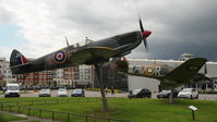 MH486 @ RAFM - BAPC.206 Gate Guardians at the RAF Museum, Hendon, London. - by Eric.Fishwick