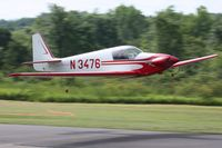 N3476 @ 42I - Departing the EAA fly-in at Zanesville, Ohio