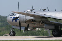 N529B @ FTW - CAF B-29 FIFI landing at Meacham Field - Fort Worth, TX