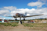 CF-CPY @ CYXY - Douglas DC-3 CF-CPY Weather Vane at Whitehorse, YT - by scotch-canadian