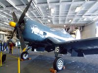 96885 - Vought F4U-4 Corsair in the Hangar of the USS Midway Museum, San Diego CA - by Ingo Warnecke