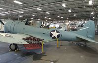 54654 - Douglas SBD-6 Dauntless (rebuilt with aft fuselage of 54654 and parts of other SBDs) in the Hangar of the USS Midway Museum, San Diego CA - by Ingo Warnecke