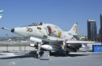 154977 - Douglas A-4F Skyhawk on the flight deck of the USS Midway Museum, San Diego CA - by Ingo Warnecke