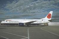 G-BVNM @ LOWW - British Airways Boeing 737-400