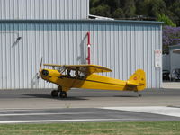 N23266 @ SZP - 1939 Piper J3C-65 CUB, Continental A&C65 65 Hp, holding short Rwy 04 - by Doug Robertson