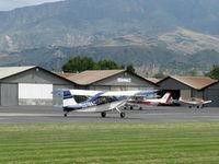 N519AC @ SZP - 2000 American Champion 7GCBC EXPLORER, Lycoming O-320 150 Hp, takeoff roll Rwy 04 - by Doug Robertson