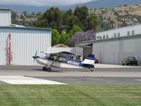 N519AC @ SZP - 2000 American Champion 7GCBC EXPLORER, Lycoming O-320 150 Hp, holding short Rwy 04 - by Doug Robertson