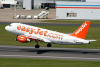 G-EZNC @ EGGP - easyJet A319 departing from RW27, taken from the control tower - by Chris Hall