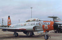 56-1670 @ EFD - T-33A Shooting Star of the 111st Fighter Interceptor Squadron on the flight-line at Ellington AFB in October 1979. - by Peter Nicholson