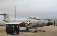 57-0252 @ EFD - F-101B Voodoo of the 111st Fighter Interceptor Squadron on the flight-line at Ellington AFB in October 1979. - by Peter Nicholson