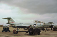 58-0335 @ EFD - F-101B Voodoo of the 111st Fighter Interceptor Group on the flight-line at Ellington AFB in October 1979. - by Peter Nicholson