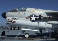 154370 - LTV A-7B Corsair II on the flight deck of the USS Midway Museum, San Diego CA - by Ingo Warnecke