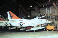 156923 @ NPA - TA-4J Skyhawk of Training Squadron VT-86 undergoing maintenance at NAS Pensacola in November 1979. - by Peter Nicholson