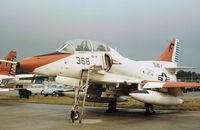 158138 @ NPA - TA-4J Skyhawk of Training Squadron VT-4 on the flight-line at NAS Pensacola in November 1979. - by Peter Nicholson