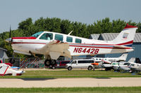 N6442B @ OSH - 1982 Beech A36, c/n: E-1957 landing at 2011 Oshkosh