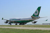 B-16401 @ DFW - EVA taxis in to the West Freight ramp at DFW