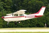 N6563D @ OSH - 1974 Cessna T210L, c/n: 21060580 arriving at 2011 Oshkosh
