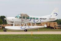 N6143P @ OSH - Cessna 208, c/n: 20800514 arriving at 2011 Oshkosh