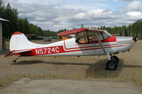 N5724C @ UUO - Earlier model of Cessna 170 - by Duncan Kirk