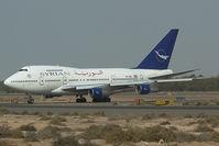 YK-AHA @ OMSJ - Syrianair Boeing 747SP