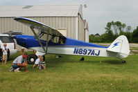 N897AJ @ FLD - 2009 Cub Crafters Inc CC11-100, c/n: CC11-00108 being secured for overnight parking at Fond du Lac