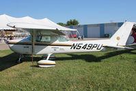N549PU @ OSH - 1976 Cessna 150M, c/n: 15078918 on display at 2011 Oshkosh